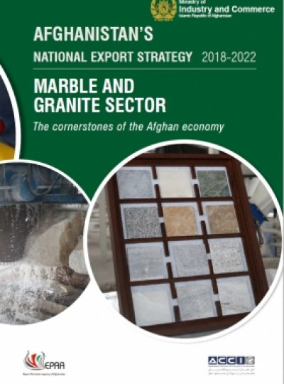 AFGHANISTAN NATIONAL EXPORT STRATEGY 2018-2022 MARBLE AND GRANITE SECTOR